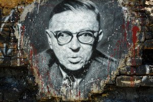 Thierry Ehrmann - Jean-Paul Sartre, painted portrait