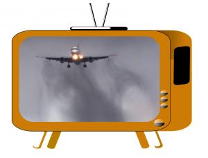 Parler d'avion à la TV