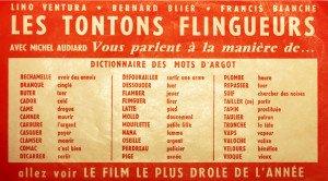 Argot du film Les tontons flingueurs_